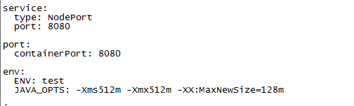 Helm Chart文件valuesyaml截图